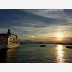Sunset in Victoria Harbour